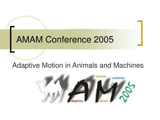 AMAM Conference 2005