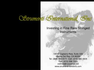 Strumenti International, Inc