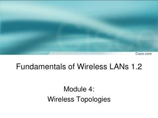 Fundamentals of Wireless LANs 1.2