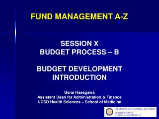 FUND MANAGEMENT A-Z
