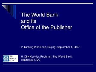What the World Bank Does