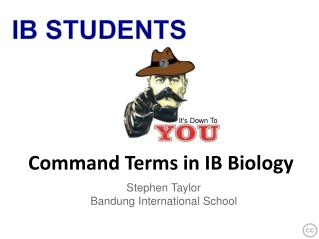 Command Terms in IB Biology