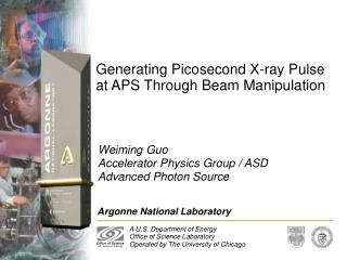 Generating Picosecond X-ray Pulse at APS Through Beam Manipulation