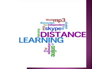 Distance Learning at AMES