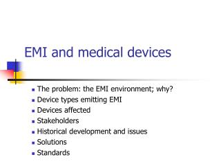 EMI and medical devices