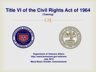 Title VI of the Civil Rights Act of 1964 (Training)