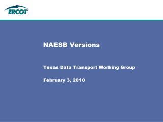 NAESB Versions