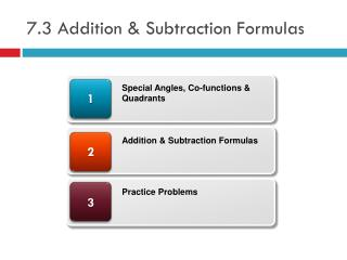 7.3 Addition & Subtraction Formulas