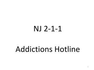 NJ 2-1-1 Addictions Hotline