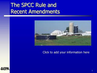 The SPCC Rule and Recent Amendments