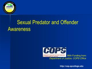 Sexual Predator and Offender Awareness