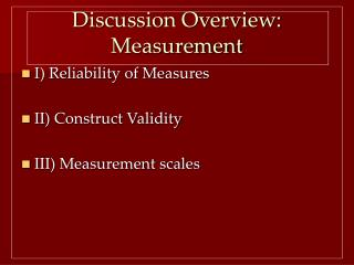 Discussion Overview: Measurement