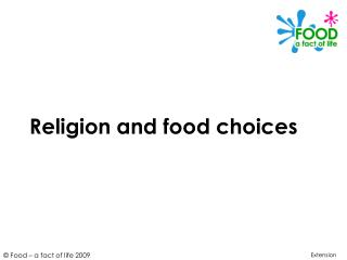 Religion and food choices