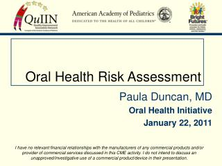 Oral Health Risk Assessment