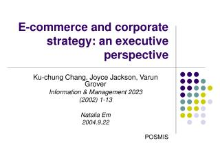 E-commerce and corporate strategy: an executive perspective