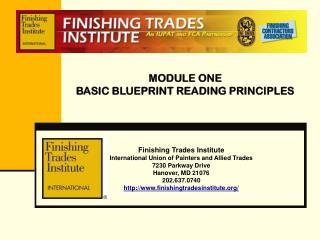 MODULE ONE BASIC BLUEPRINT READING PRINCIPLES
