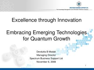 Excellence through Innovation  Embracing Emerging Technologies for Quantum Growth