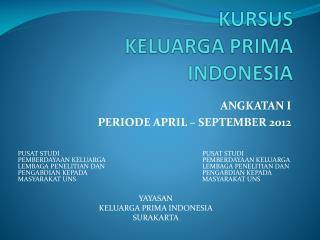 KURSUS KELUARGA PRIMA INDONESIA