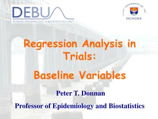 Regression Analysis in Trials: Baseline Variables