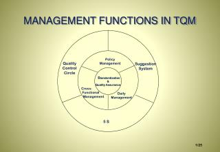 MANAGEMENT FUNCTIONS IN TQM