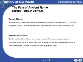 The Fate of Ancient Rome
