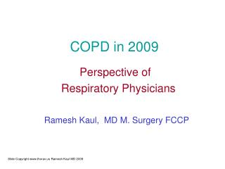 COPD in 2009