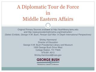 A Diplomatic Tour de Force in Middle Eastern Affairs