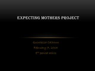 Expecting Mothers Project