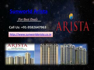 Sunworld Arista- Sunworld Arista Noida