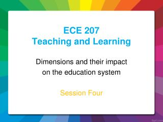ECE 207 Teaching and Learning