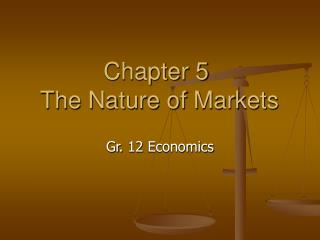 Chapter 5 The Nature of Markets