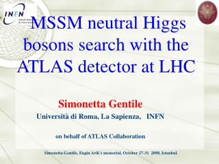 MSSM neutral Higgs bosons search with the ATLAS detector at LHC