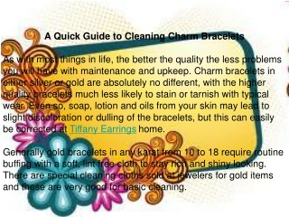 A Quick Guide to Cleaning Charm Bracelets