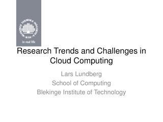 Research Trends and Challenges in Cloud Computing