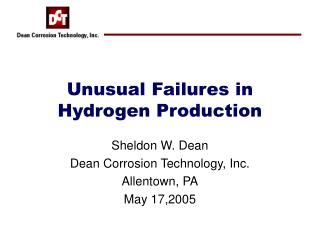 Unusual Failures in Hydrogen Production