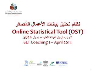 نظام تحليل بيانات الأعمال المُصغر Online  Statistical Tool (OST )