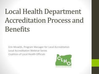 Local Health Department Accreditation Process and Benefits