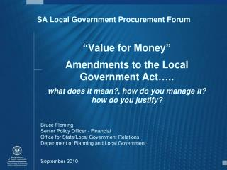 SA Local Government Procurement Forum