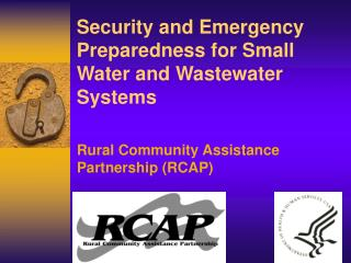 Security and Emergency Preparedness for Small Water and Wastewater Systems