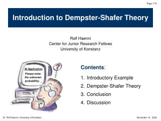 Introduction to Dempster-Shafer Theory