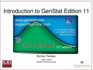 Introduction to GenStat Edition 11