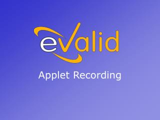 Applet Recording