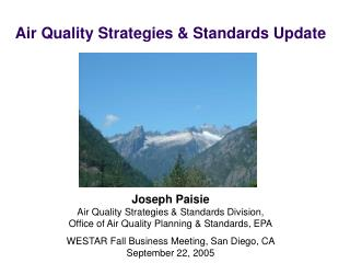 Air Quality Strategies & Standards Update