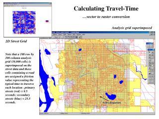 Analysis grid superimposed
