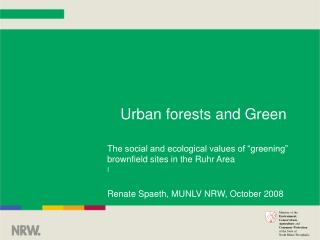 Urban forests and Green