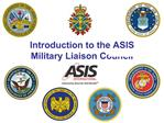 Introduction to the ASIS Military Liaison Council