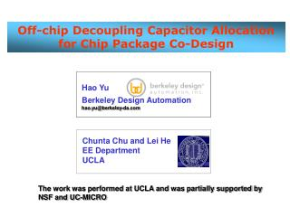 Off-chip Decoupling Capacitor Allocation for Chip Package Co-Design