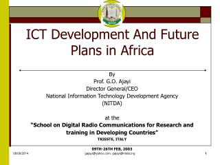 ICT Development And Future Plans in Africa