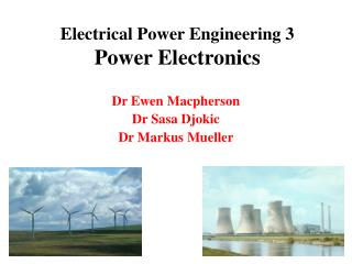 Electrical Power Engineering 3 Power Electronics