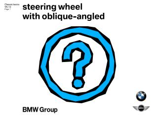 steering wheel with oblique-angled